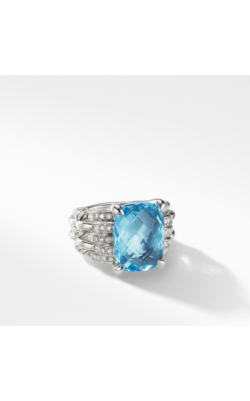 Tides Statement Ring with Blue Topaz and Diamonds product image