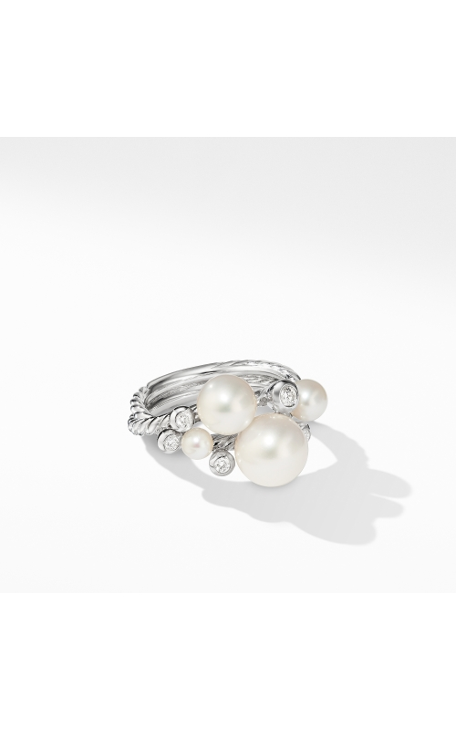 Pearl Cluster Ring with Diamonds product image