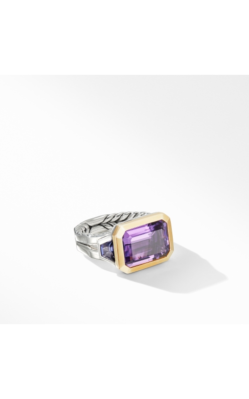 Novella Three Stone Ring with Amethyst and 18K Yellow Gold product image