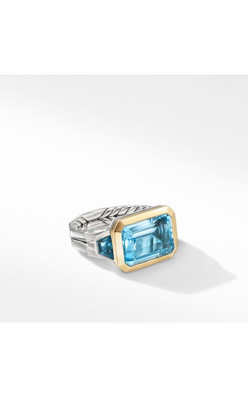 Novella Three Stone Ring with Blue Topaz and 18K Yellow Gold product image
