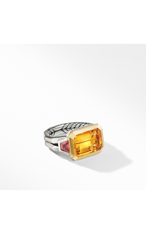 Novella Three Stone Ring with Citrine and 18K Yellow Gold product image