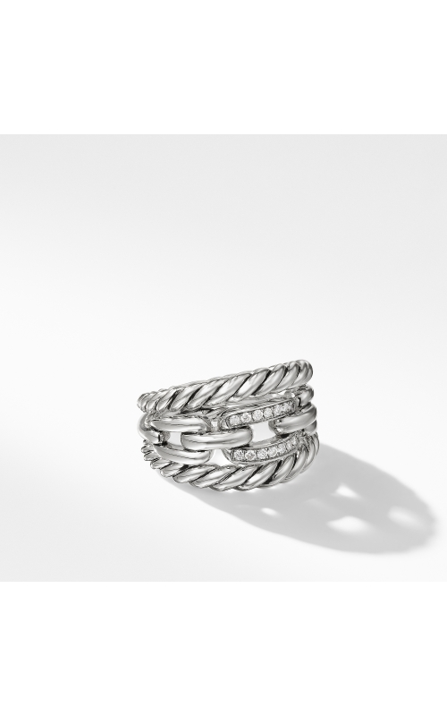 Wellesley Link Three-Row Ring with Diamonds product image