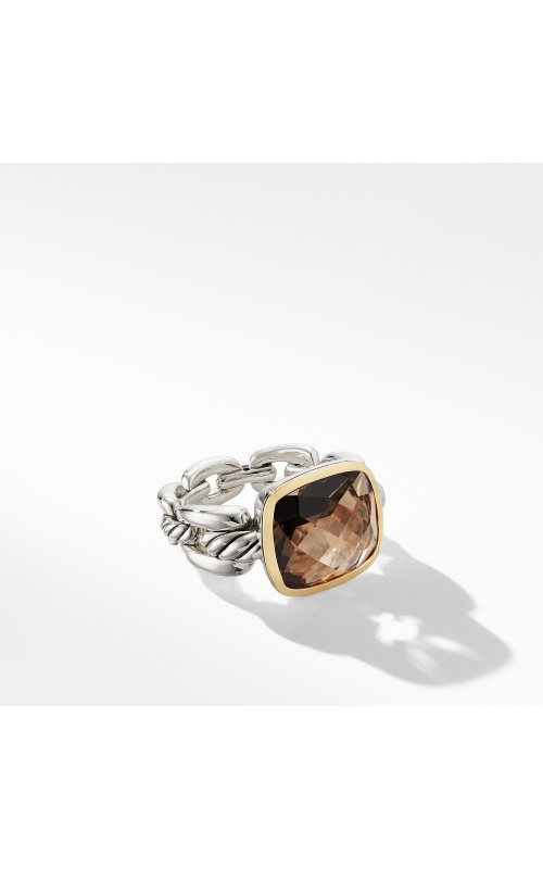Wellesley Link Statement Ring with 18K Gold and Smoky Quartz product image