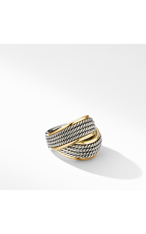 DY Origami Crossover Ring with 18K Yellow Gold product image