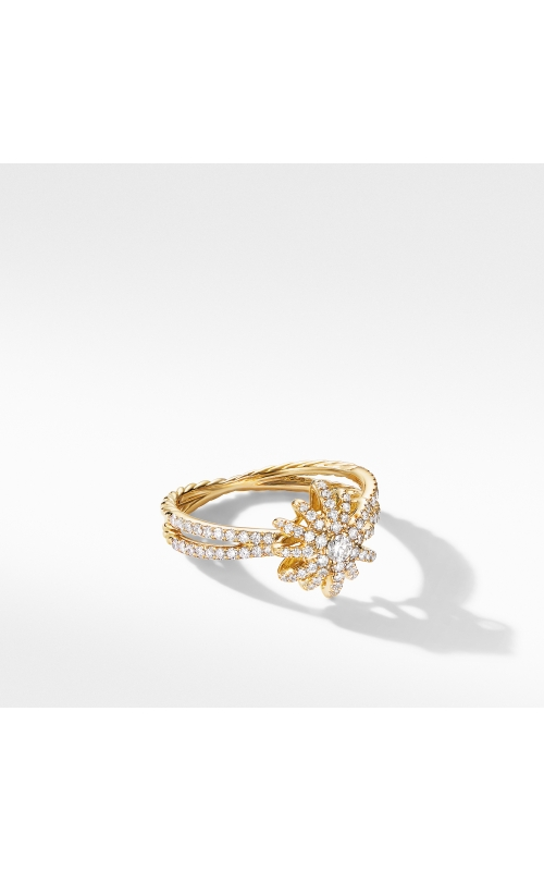 Starbust Ring in 18K Yellow Gold with Pavé Diamonds product image