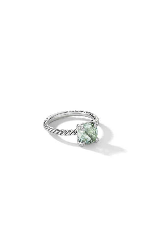 Chatelaine® Ring with Prasiolite and Diamonds product image