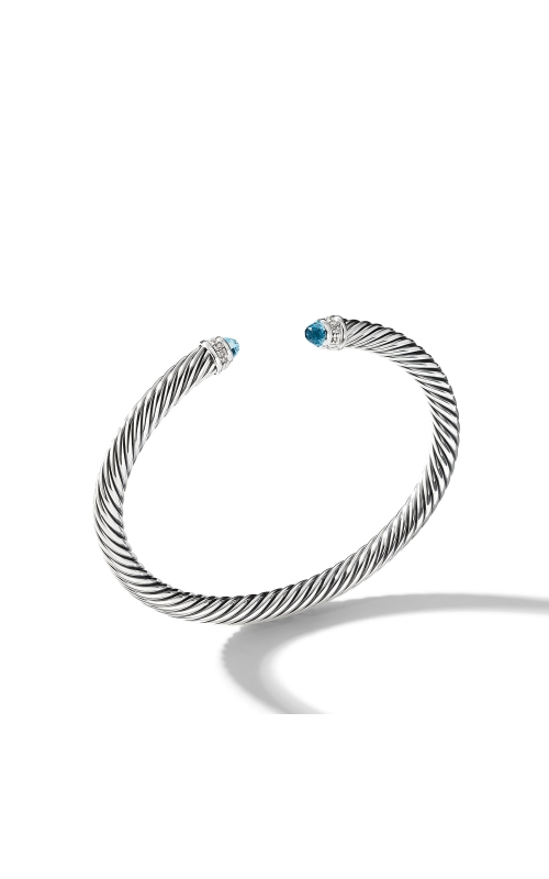 Cable Classics Collection® Bracelet with Blue Topaz and Diamonds product image