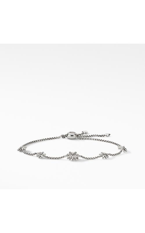 Petite Starburst Station Chain Bracelet with Pavé Diamonds product image