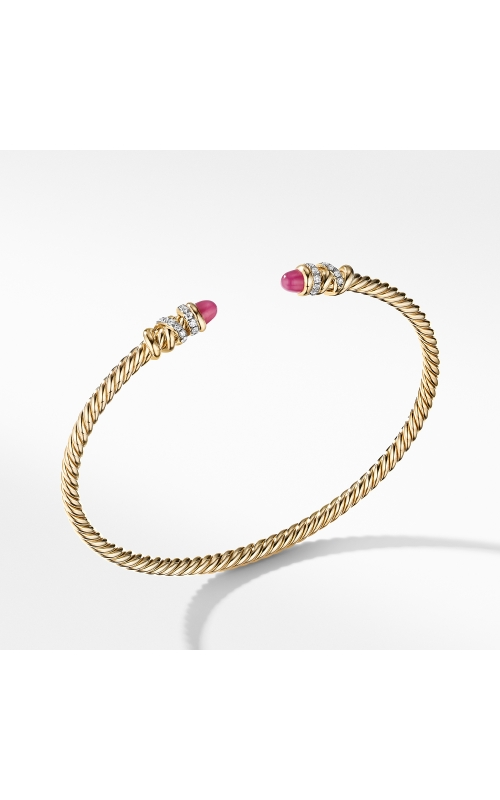 Petite Helena Open Bracelet in 18K Yellow Gold with Rubies and Diamonds product image