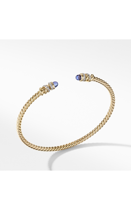 Petite Helena Open Bracelet in 18K Yellow Gold with Tanzanite and Diamonds product image