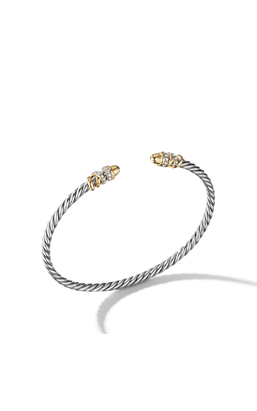 Petite Helena Open Bracelet with 18K Yellow Gold Gold Domes and Diamonds product image