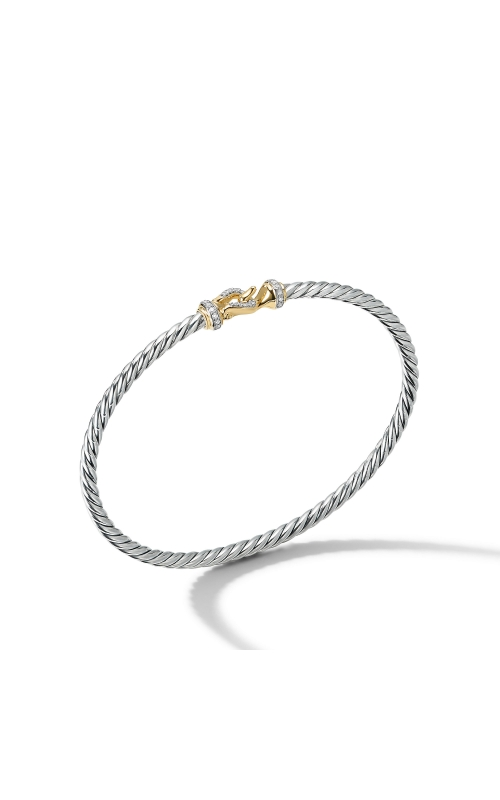 Cable Buckle Collection® Bracelet with 18K Yellow Gold and Diamonds product image