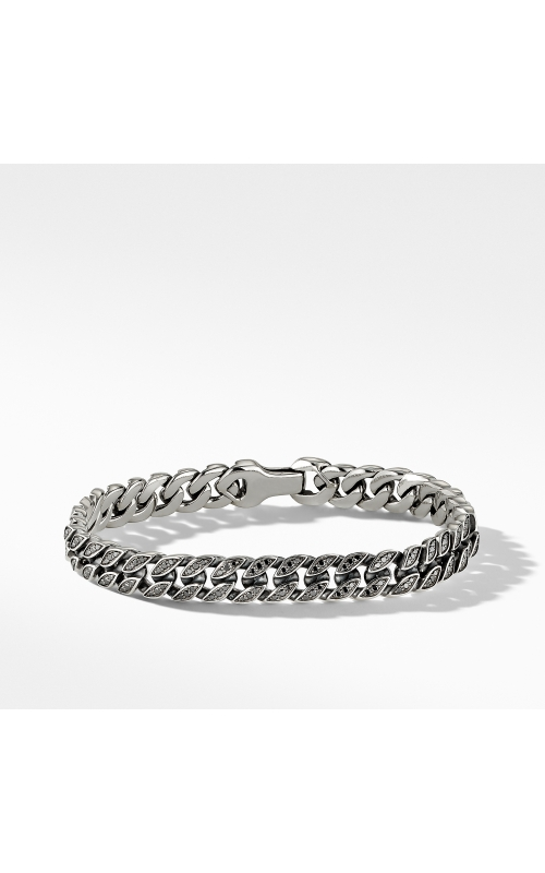 Curb Chain Bracelet with Pavé Black Diamonds product image