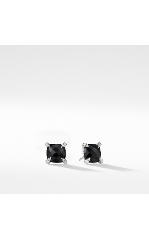 Chatelaine® Stud Earrings with Black Onyx and Diamonds mm product image