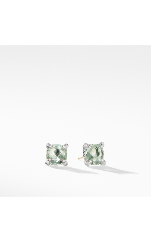 Chatelaine® Stud Earrings with Prasiolite and Diamonds product image
