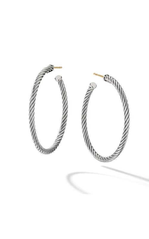 Medium Cable Hoop Earrings product image