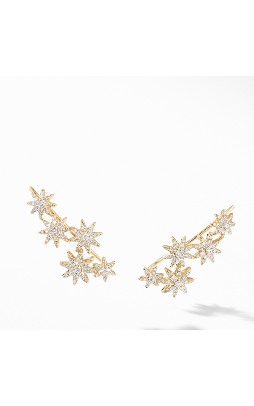 Starburst Climber Earrings in 18K Yellow Gold with Pavé Diamonds product image