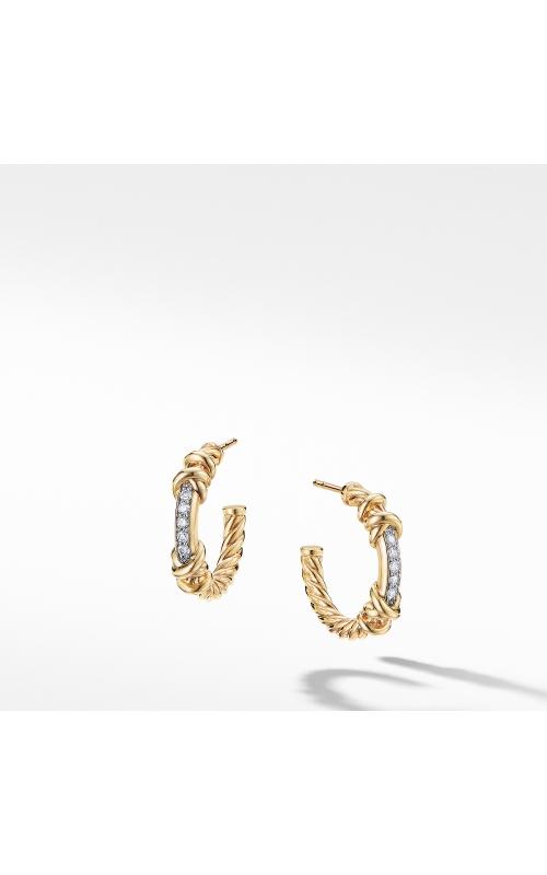 Petite Helena Hoop Earrings in 18K Yellow Gold with Diamonds product image