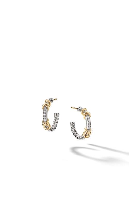 Petite Helena Hoop Earrings with 18K Yellow Gold and Diamonds product image