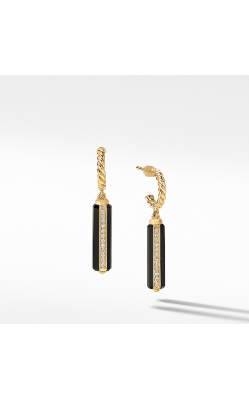 Lexington Short Drop Earrings in 18K Yellow Gold with Black Onyx and Diamonds product image