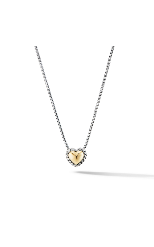 Cable Cookie Classic Heart Necklace with 18K Yellow Gold product image