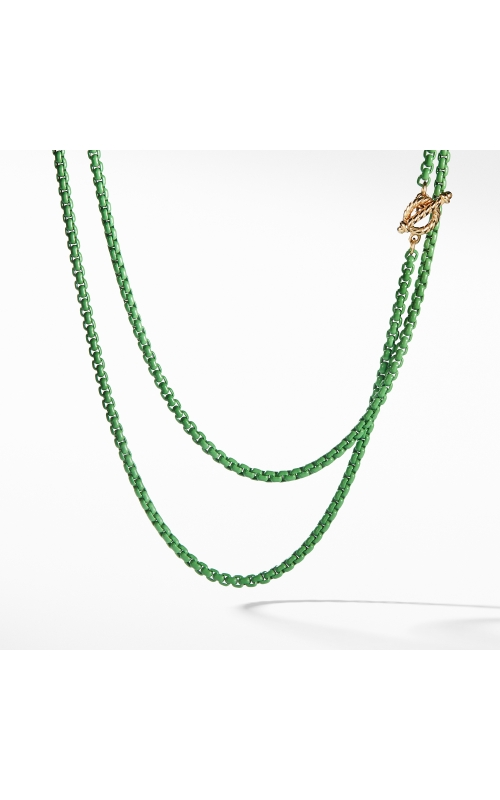 DY Bel Aire Chain Necklace in Green with 14K Gold Accents product image