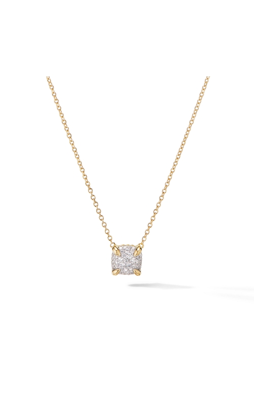 Chatelaine® Pendant Necklace in 18K Yellow Gold with Full Pavé Diamonds product image