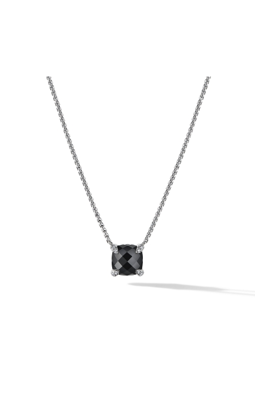 Chatelaine® Pendant Necklace with Black Onyx and Diamonds product image