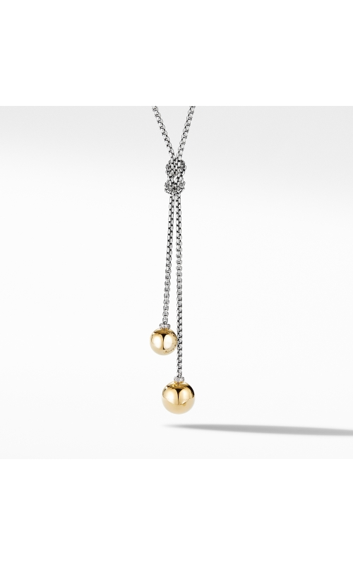 Solari Knot Necklace with 18K Yellow Gold Domes and Pavé Diamonds product image