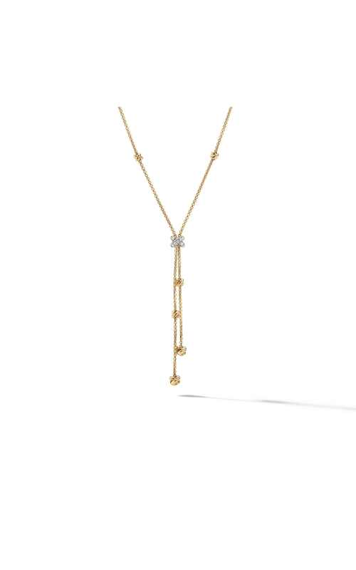 Petite Helena Y Necklace in 18K Yellow Gold with Diamonds product image