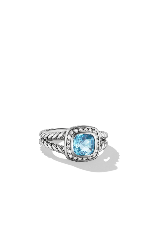 Petite Albion® Ring with Blue Topaz and Diamonds product image