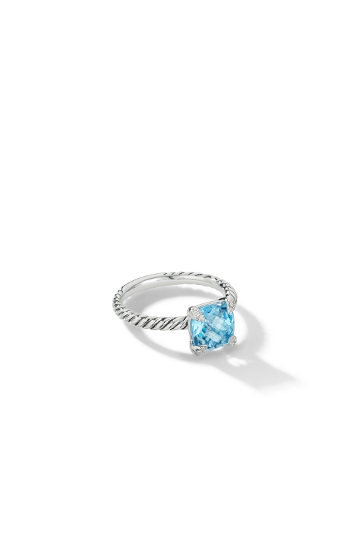 Chatelaine® Ring with Blue Topaz and Diamonds product image