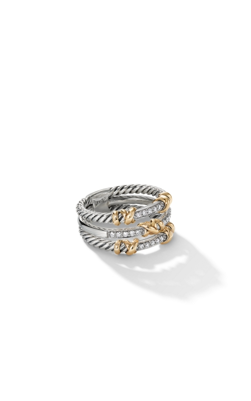 Petite Helena Three Row Ring with 18K Yellow Gold and Diamonds product image