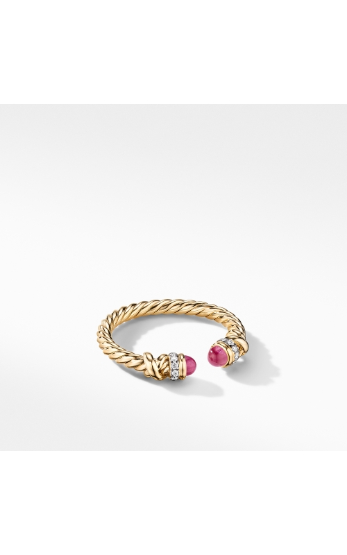 Petite Helena Open Ring in 18K Yellow Gold with Rubies and Diamonds product image