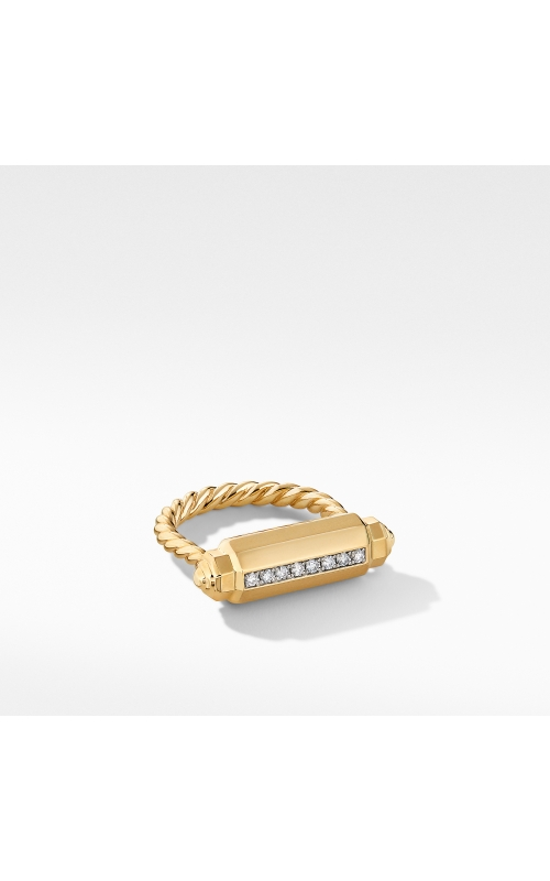 Lexington Barrel Ring in 18K Yellow Gold with Diamonds product image
