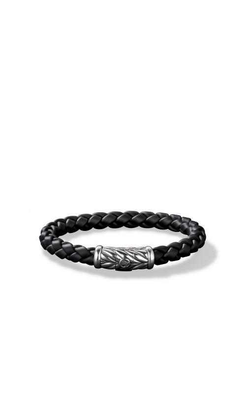 Chevron Rubber Weave Bracelet in Black product image