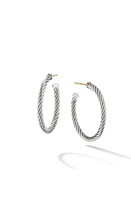 Cable Hoop Earrings product image
