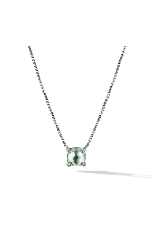 Chatelaine® Pendant Necklace with Prasiolite and Diamonds product image