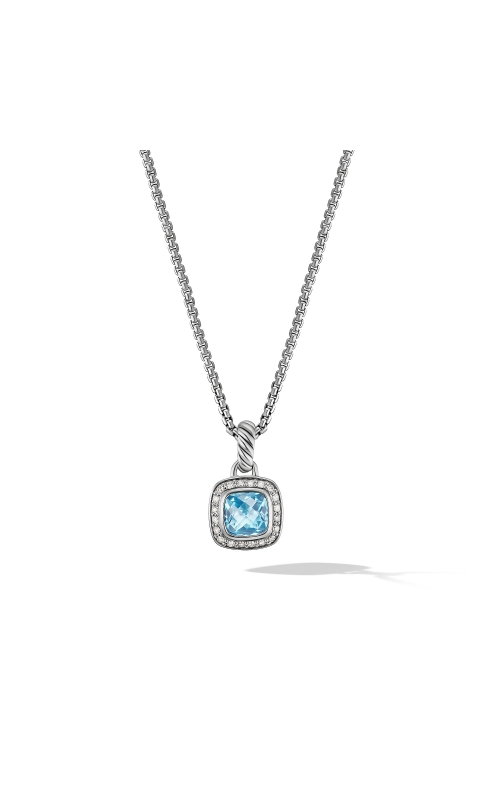 Petite Albion® Pendant Necklace with Blue Topaz and Diamonds product image