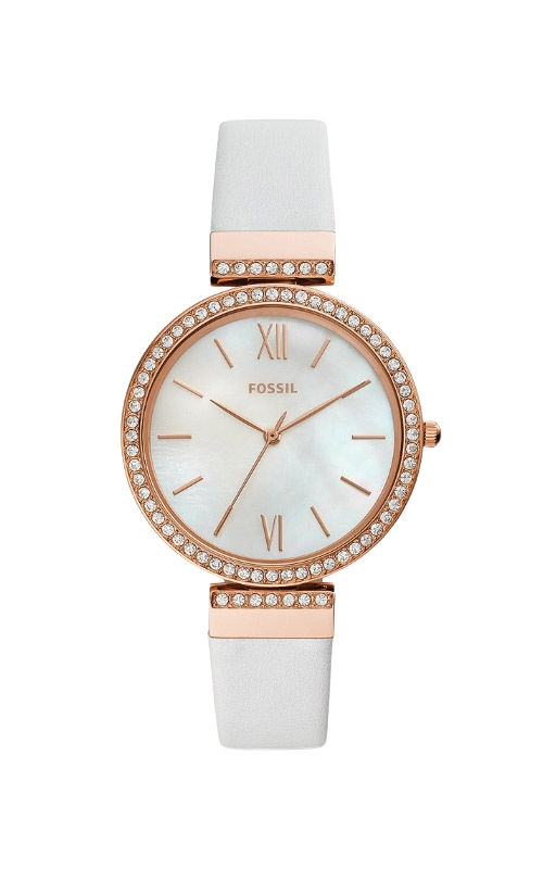 Fossil Ladies Madeline Three Hand White Leather Watch ES4581 product image
