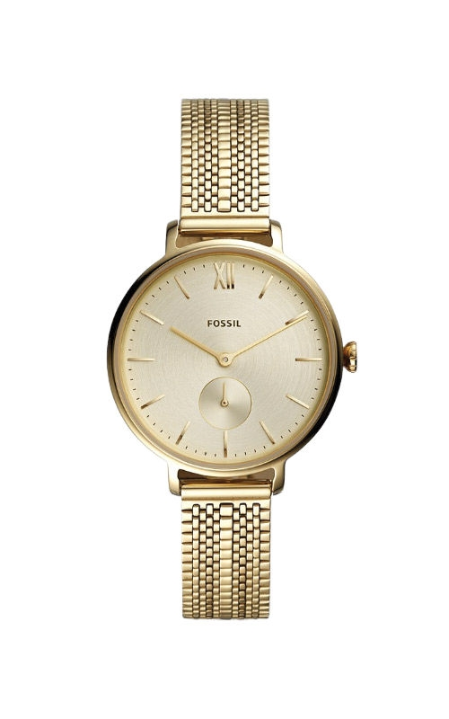Fossil Ladies Kalya Three Hand Gold Tone Stainless Steel Watch ES4667 product image