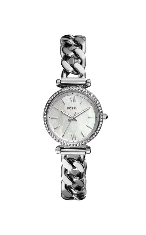 Fossil Ladies Carlie Mini Three Hand Stainless Steel Watch ES4689 product image