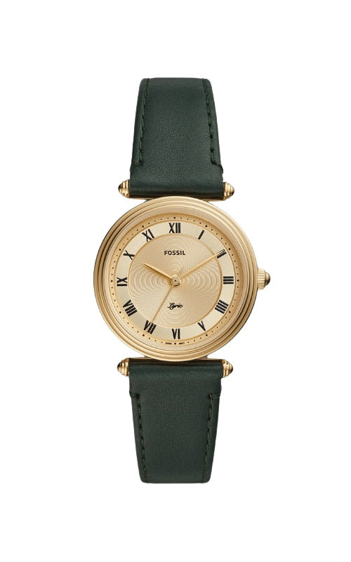 Fossil Ladies Lyric Three Hand Dark Green Leather Watch ES4705 product image