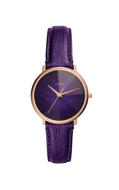 Fossil Ladies Prismatic Galaxy Three Hand Purple Leather Watch ES4727 product image