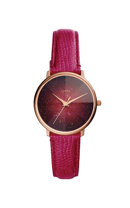 Fossil Ladies Prismatic Galaxy Three Hand Fuschia Leather Watch ES4731 product image