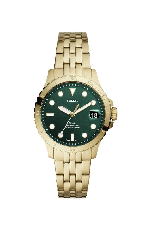 Fossil Ladies FB 01 Three Hand Date Gold Tone Stainless Steel Watch ES4746 product image