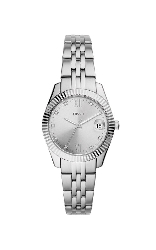 Fossil Ladies Scarlette Mini Three Hand Date Stainless Steel Watch ES4897 product image