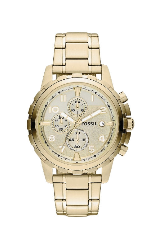 Fossil Men's Dean Chronograph Gold Tone Stainless Steel Watch FS4867 product image