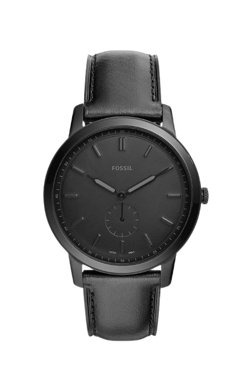 Fossil Men's The Minimalist Two Hand Black Leather Watch FS5447 product image