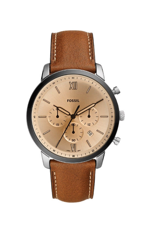 Fossil Men's Neutra Chronograph Brown Leather Watch FS5627 product image